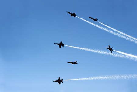 fighter jets like flies Archivio Fotografico