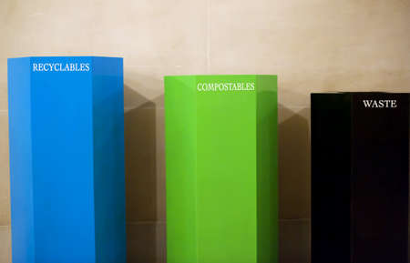 recyclable, compostable, and waste bins in compliance with san francisco's city laws