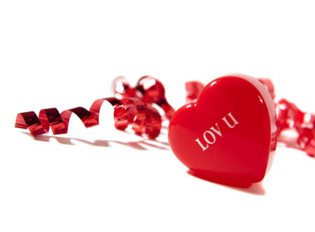 lov u heart with ribbons photo