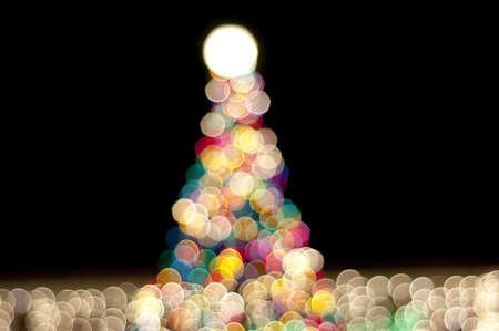christmas tree at night Archivio Fotografico