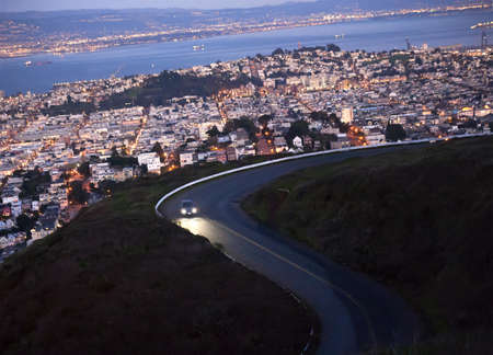 twisted road above san francisco photo