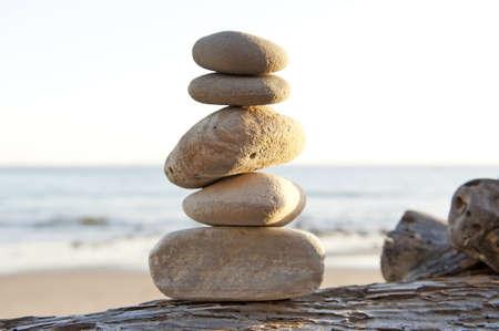 Vrede en rust op het strand Stockfoto - 9651354
