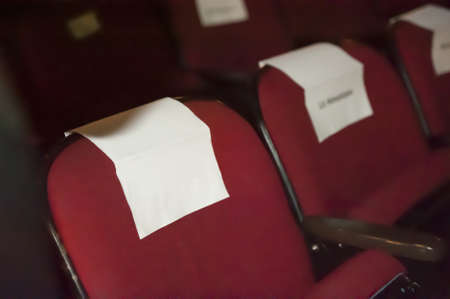 celebrity seating with copy space for text