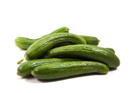 pickling cucumbers isolated on white