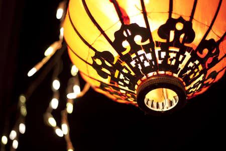 lanterns at night Archivio Fotografico