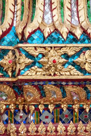 Mozaïek patroon van Thaise tempel Stockfoto - 13941673