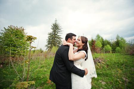 newlywed couple: wedding couple