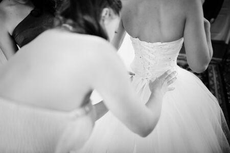 beauties: bride morning Stock Photo