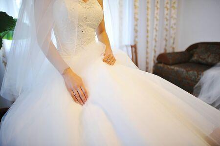 beauties: hands of bride Stock Photo