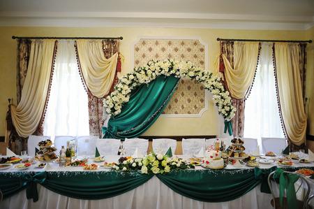decoration of wedding table