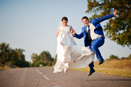 newlyweds: Young newlyweds in love Stock Photo