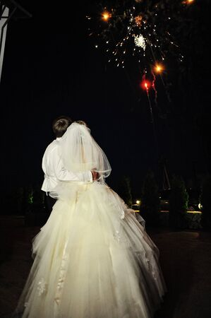 love silhouette: wedding fireworks