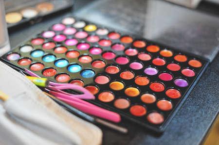 eyeshadow: Make-up colorful eyeshadow palettes