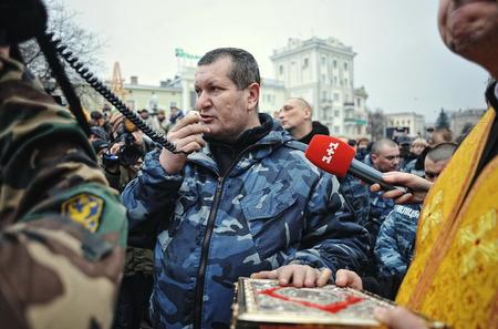 insurrection: Ternopil, UKRAINE - FEBRUARY 2014: Euromaidan. Revolution. Editorial