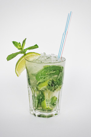 coctail mojito isolated on the white background