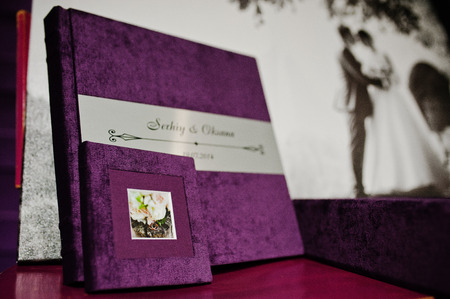 big picture: violet velvet photo book and album with big picture