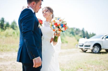 car background: wedding couple background wedding car