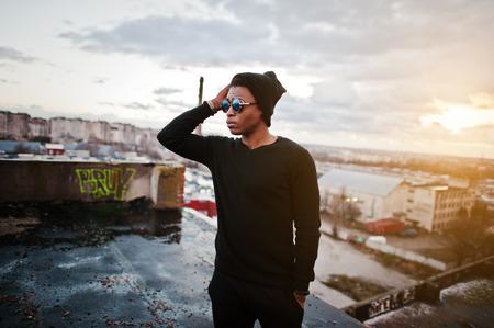 지붕에 스타일 흑인의 초상화