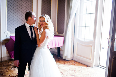 house with style: Elegant wedding couple at old vintage house and palace near piano