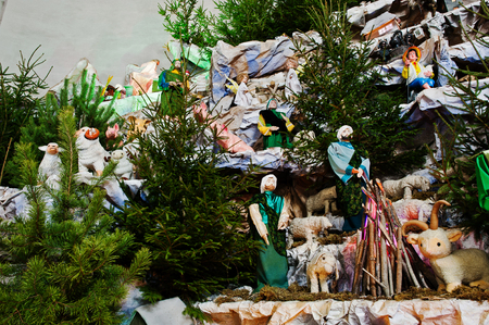 lamb of god: Very large christmas nativity crib