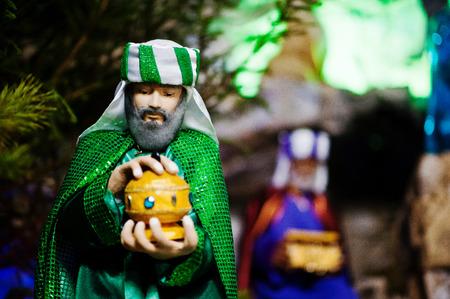 guardería: Muy grande cuna Natividad de la Navidad