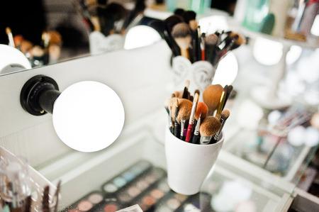 化粧用ブラシのセット 写真素材