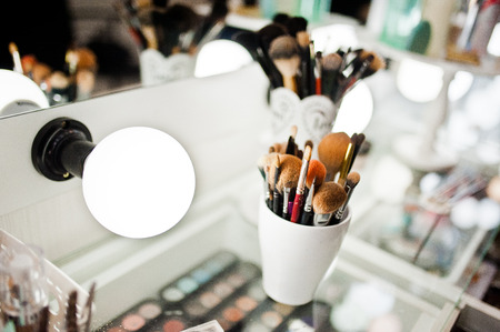 makeup fashion: Set of brushes for makeup