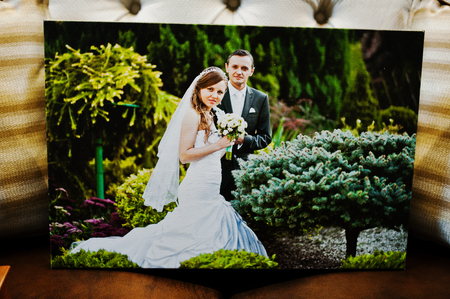 big picture: Big picture on canvas of wedding couple
