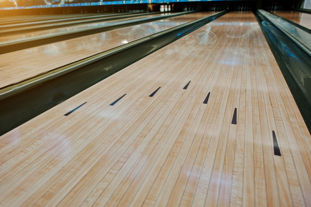 alley: Bowling wooden floor with lane