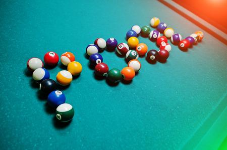 9 ball billiards: The word pool from billiard balls