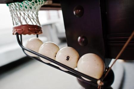 9 ball billiards: Pool billiards ball in the hole
