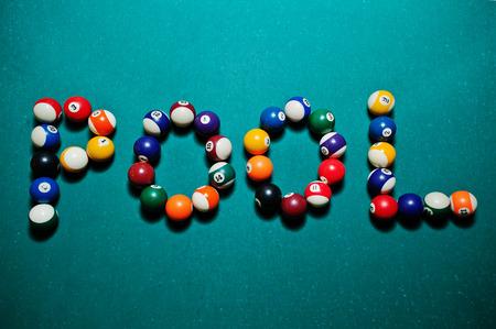 snooker halls: The word pool from billiard balls