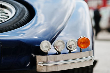rebuild: Rear headlights of old classic car Stock Photo