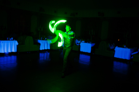 diode: Diode light show artists on wedding party