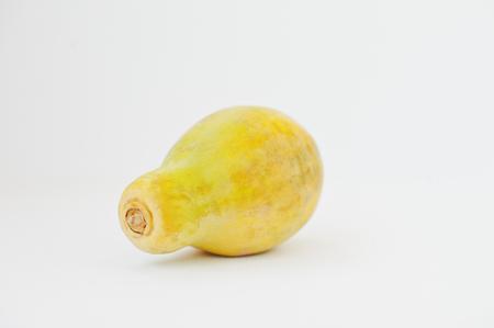 Exotic fruit papaya or papaw isolated on white background. Healthy eating dieting food. Stock Photo