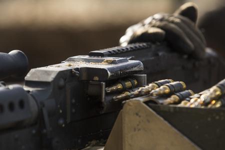 Soldier with a Light Machine Gun