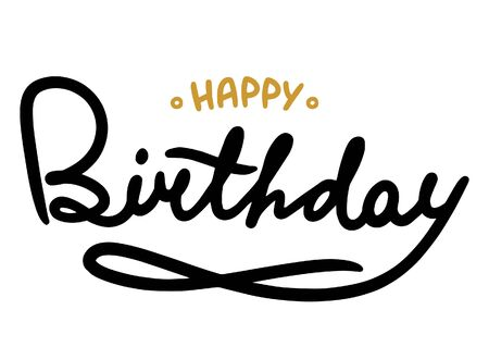 Hhappy Birthday brush Stock Illustratie