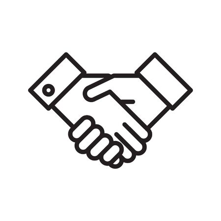 Icono de apretón de manos Ilustración de vector