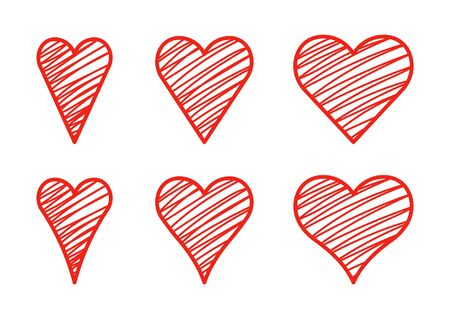 heart set Stock Illustratie