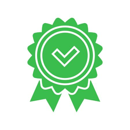 Approval check icon Illustration