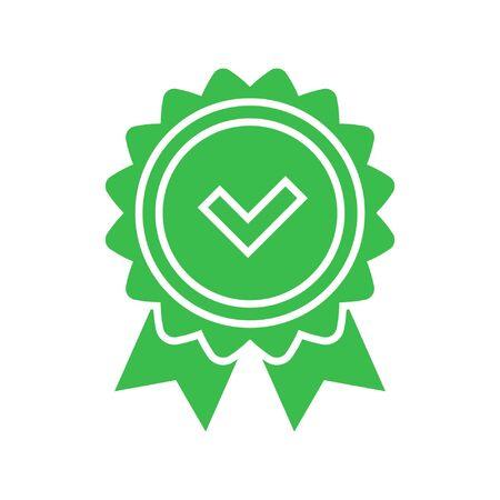 Icono de verificación de aprobación Ilustración de vector