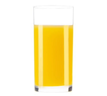 Orange juice glass isolated Stockfoto