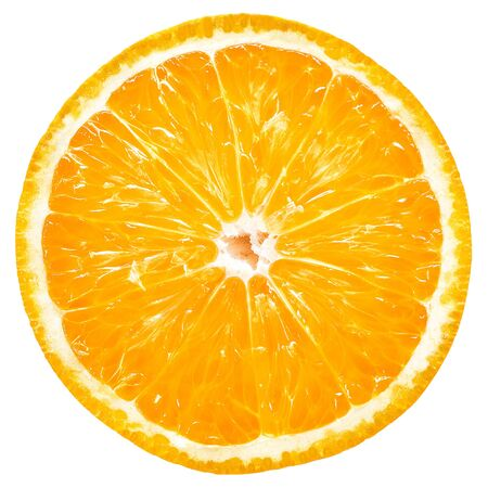 Orange slice isolated Standard-Bild