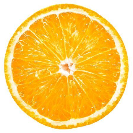 Pomarańczowy plasterek na białym tle