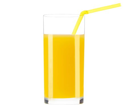 Orange juice glass isolated 版權商用圖片