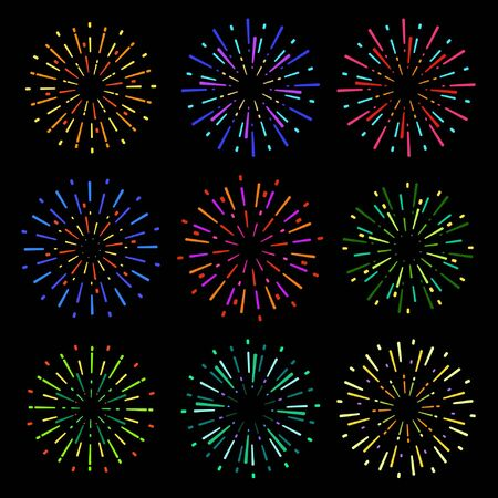 Fireworks set Stock Illustratie