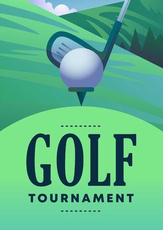 Plakat zum Golfturnier Vektorgrafik