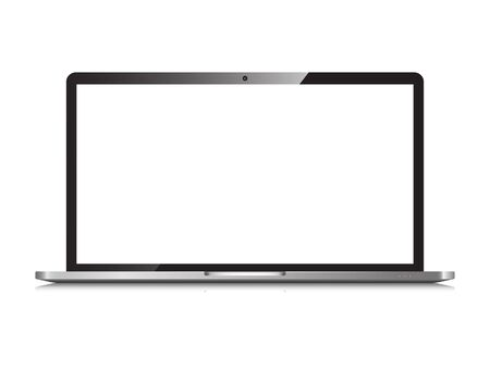 Laptop isolated Stock Vector - 127824693