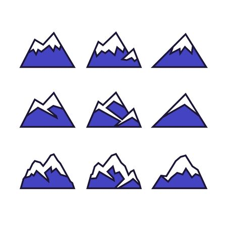 Mountaion icon set Stock Illustratie