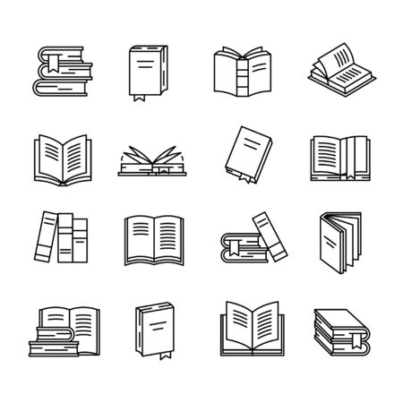Book icon set Stock fotó - 127824697